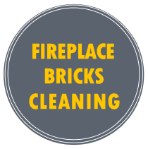 fireplace bricks cleaning back